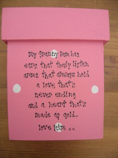 NANA Nanny NANNIE Grandad ~ ANY NAMES Gift Willow Heart PERSONALISED Shabby Chic