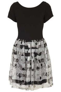 Cap Sleeve Printed Mini Dress - Party Dresses - Dresses  - Clothing