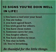 10 signs you're doing well in life