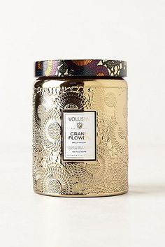 Gold and plum packaging