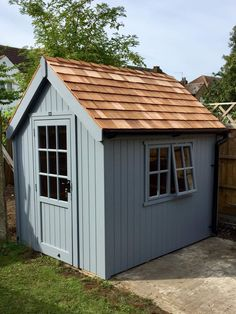 Luxury Ply Lined Classic Garden Sheds - The Cosy Shed Co - Luxury Ply Lined Classic Garden Sheds – The Cosy Shed Co shed design shed diy shed ideas Source by violetgilmour - Painted Garden Sheds, Cottage Garden Sheds, Painted Shed, Garden Shed Diy, Garden Storage Shed, Backyard Sheds, Diy Shed, Wooden Storage Sheds, Wooden Sheds