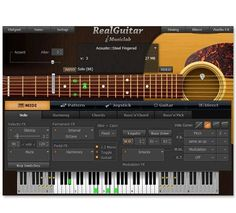 Music Production - RealGuitar By MusicLab - BTV Professional Music Production Software works as a standalone application or with your DAW as a VST or AU plugin (optional). Music Making Software, Guitar Patterns, Hero Games, Midi Keyboard, Backing Tracks, For You Song, Guitar Parts, Acoustic Guitar, Guitar Rig