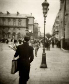 Joseph-Philippe Bevillard. Man with Baguettes. Paris. 2010. (Diana F+ series)