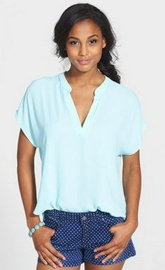 So cute for day or night #vneck #girl #girls #fashion #ootd #beauty #blue #tshirt #swag #summer #style #summerstyle #fab #pretty #casual