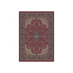 Concord Global Valencia Red Rectangular Indoor Woven Oriental Area Rug (Common: 8 x 10; Actual: 7.83-ft W x 9.83-ft L x 7.83-ft Dia)