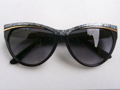 1 Sonnenbrille Cateye Retro Hippie Goa Brille Nerdbrille 50s 60s Vintage Neu
