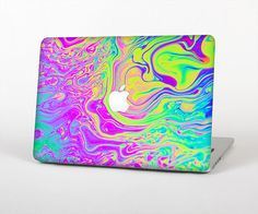MOSISO Silicone Pattern Keyboard Cover Protective Skin Compatible with MacBook Pro 13 inch 2017 /& 2016 Release A1708 Without Touch Bar MacBook 12 inch A1534 Rainbow Mist