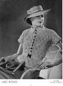 1935 crochet patterns - great image!