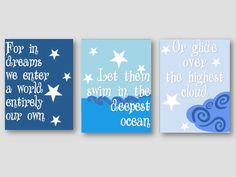 Dumbledore Quote- Nursery Art, Harry Potter Nursery, Nursery Print, Nursery Download, Ocean Nursery, Cloud Nursery, Baby Room by ANewDae on Etsy https://www.etsy.com/listing/221289021/dumbledore-quote-nursery-art-harry