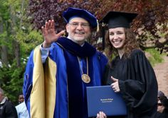 Cazenovia College President, Dr. Tierno and Valedictorian Nicole Lennon. #CazCollege