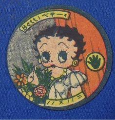 1940's Betty Boop Mickey Mouse Japanese Menko Cards vintage toy Japan
