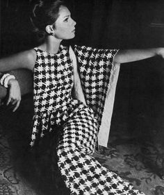 1965. Vogue. Model Jennifer O'Neill. Wearing a creation by Mainbocher. Photo by Horst P. Horst (1906-D1999)