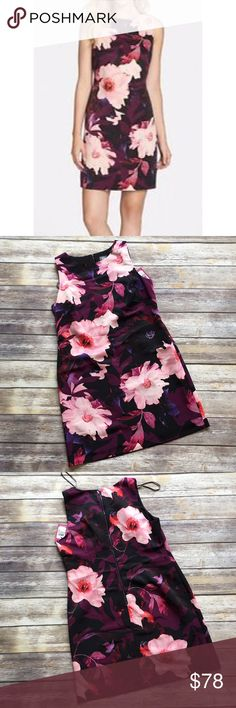 """Vince Camuto Sleeveless Floral Dress Brand new with tags Vince Camuto Floral Sleeveless dress with back zipper and round neckline. Size 12. Made of 100% polyester. Fully lined. Measures from pit to pit 20""""/ length 36"""". Vince Camuto Dresses"""