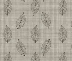 skeleton leaves on linen fabric by glindabunny on Spoonflower - custom fabric Linen Fabric, Custom Fabric, Spoonflower, Skeleton, Bamboo, Gift Wrapping, Leaves, Wallpaper, Prints