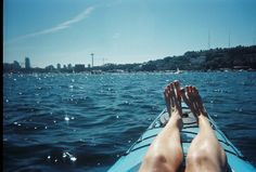 Seattle in the Summer: get outside, soak up some sun, and enjoy the water. Go kayaking with the Northwest Outdoor Center