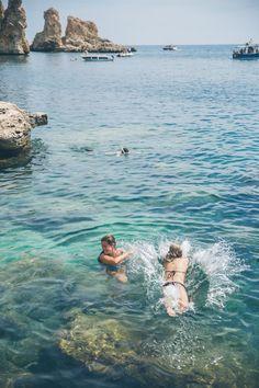 Tonnara di Scopello, Sicily - The Londoner Gelato Shop, Europe Photos, Northern Italy, Italy Travel, Travel Destinations, Swimming, Ocean, London, Restaurants