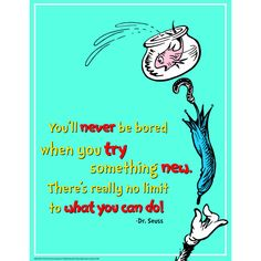 DR SEUSS TRY SOMETHING NEW 17X22