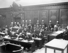 November 20,1945 – The Nuremberg Trials (pictured) of 24 leading Nazis involved in the Holocaust and various war crimes during World War II began in Nuremberg, Germany. | ... and their attorneys at the Nuremberg trial, Nuremberg, Germany, 1945/6
