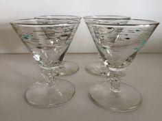 42 LIBBEY-STEMMED-BARWARE-MARTINI-GLASS-MEDITERRANEAN-ATOMIC-FISH-MARTINI-GLASS
