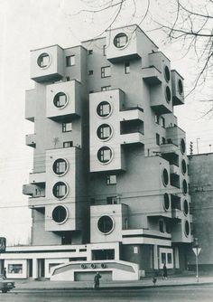 Edifício residencial na rua Minskaya, anos 1980, Bobrujsk, Bielorrússia