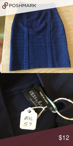 Melanie Griffith's GUESS by Marciano skirt NWT Guess by Marciano navy skirt won at auction, previously owned by Melanie Griffith Guess by Marciano Skirts