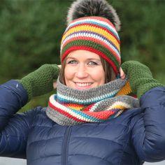 Gratis hekleoppskrift på lue, hals og pulsvanter - Happy Knitting AS Women's Fashion, Patterns, Knitting, Happy, Accessories, Design, Threading, Dressing Up, Block Prints