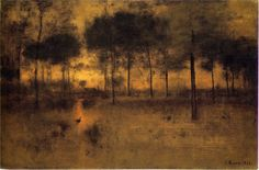 """""""The Home of the Heron,"""" by George Inness, oil on canvas, 30 by 45 inches, The Art Institute of Chicago, Edward B. Butler Collection, 1893"""