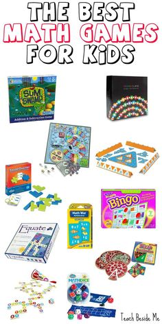 Math games 108086459786757659 - The Best Math Games for Kids Source by binspiredmama Easy Math Games, Math Board Games, Math Activities For Kids, Math Boards, Kindergarten Games, Math For Kids, Science Games, Preschool, Card Games For Kids
