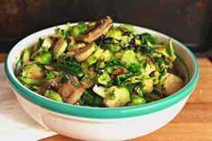 Brussel Sprouts Salad With Mustard Lemon Dressing | saraheatsaustin