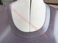 Sentarse a Coser: Tutorial: Perdiendo el miedo a los tejidos elásticos. Remate de escote (II)