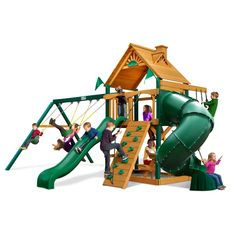 Gorilla Playsets Blue Ridge Mountaineer Wood Swing Set - Additional features…