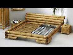 Lit en bambou naturel komodo - All About Bamboo Bed Frame, Bamboo Sofa, Bamboo Art, Bamboo Crafts, Bamboo Furniture, Cheap Furniture, Furniture Styles, Furniture Outlet, Komodo
