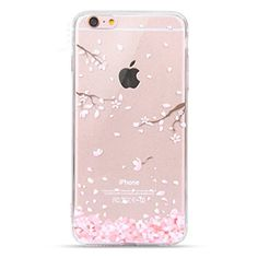 Urberry iPhone Case, iPhone 6 Case Cherry Leaf Falling Silicone Back Cover for inches iPhone with a Screen Protector Iphone 6 Cases Clear, Case Iphone 6s, Floral Iphone Case, Iphone 7 Plus Cases, Iphone Se, Coque Iphone 6, Best Iphone, Apple Iphone 6, Butterfly Girl