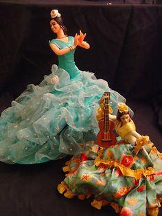 Vintage Antique Spanish Dolls Wood and Plastic | eBay