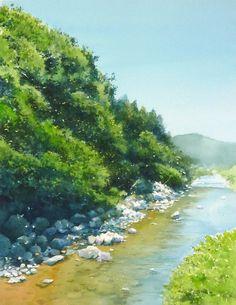 Abe Toshiyuki  Watercolor on Waterford, 30x39cm. 2014