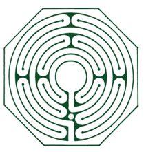 Elegant rendition of the Santa Rosa Labyrinth by Robert Ferré of Labyrinth Enterprises