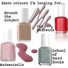 Essie Colours I am longing for by geewhiskers.com