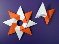 Stella Natale (vista da sopra) - Christmas Stars (front).Technique: modular origami, no cuts, no glue, 8 squares of paper copy. Designed and folded by Francesco Guarnieri, December 2010. Bottom view: http://www.flickr.com/photos/f_guarnieri/5324046525/