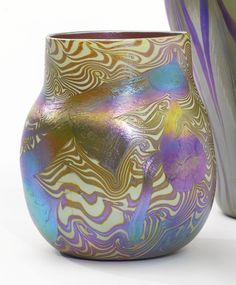 ** Tiffany Studios, New York, Iridescent Favrile Glass vase.