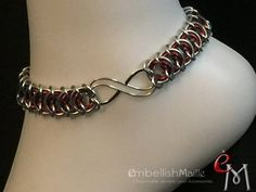 Infinity Jewelry, Chainmaille Bracelet, Clean And Shiny, Infinity Symbol, Anklet, Sterling Silver Bracelets, Weave, Collars Submissive, Stainless Steel