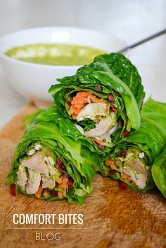Chicken Pesto Savoy Cabbage Wraps | Comfort Bites