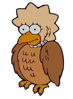 Owl Lisa Simpsons Characters, Fictional Characters, The Simpsons, Charlie Brown, Lisa, Owl, Owls, Fantasy Characters