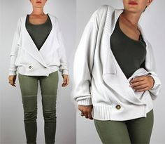 Vtg REISS Knitted Cardigan/Cotton Wool Chunky by VintageDeMar