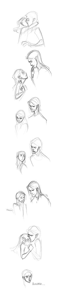 Rowan and Aelin. sappy shit by ancalinar.... Not sure if they have bromance or romance.
