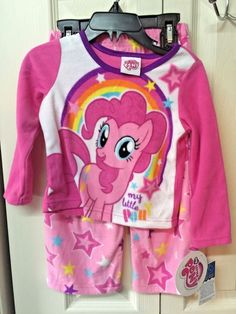 My Little Pony Toddler Girls Forever Happy 2pc Pajama Pant Set Size 2T 3T 4T $36
