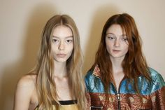 Like at the Anthony Vaccarello show where models had makeup as jewellery (the earlobes displayed cuffs of liquid liner), at Dries van Noten they rocked faux gold lip rings. So cool! The cool girl hair featured dishevelled waves and 90s-esque centre partings.  -Cosmopolitan.co.uk