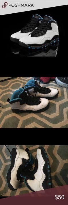 meet 5d469 2d31c Air Jordan 10 white powder blue Air Jordan 10s size 6 men s size 8 women s