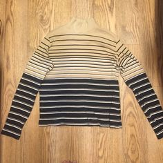 Turtleneck sweater Vintage beige and black striped turtleneck sweater Sweaters Cowl & Turtlenecks
