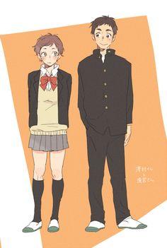 Michimiya Yui & Sawamura Daichi - Haikyuu!! / HQ!!