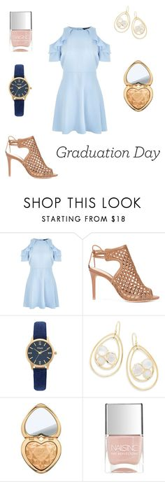 """""""Congrats grad 🎉"""" by ericalee01-1 ❤ liked on Polyvore featuring New Look, Alexandre Birman, Vivani, Ippolita, Too Faced Cosmetics and Nails Inc."""